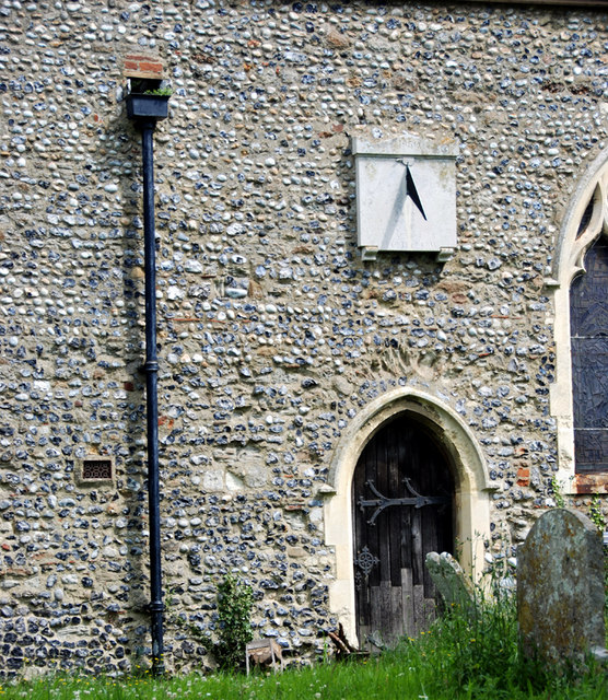 Part of the South wall of  Chislet Church.
