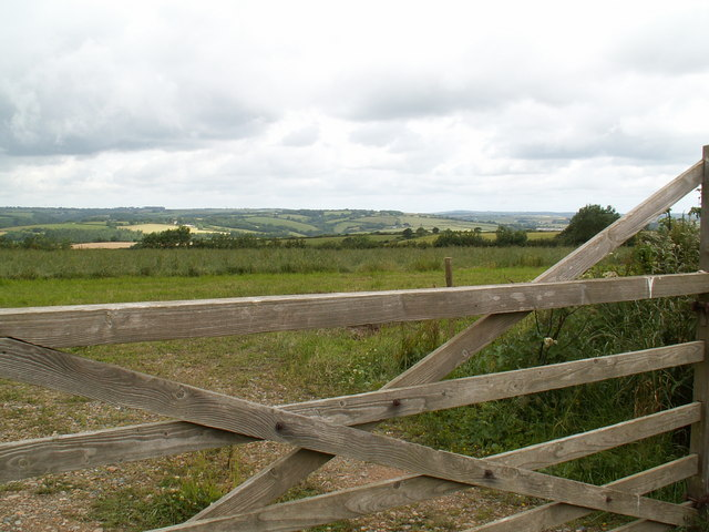 View westwards over fields