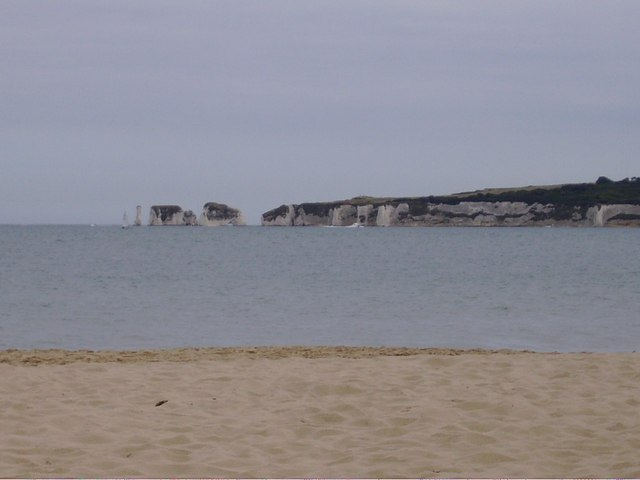 Old Harry rocks from Studland beach