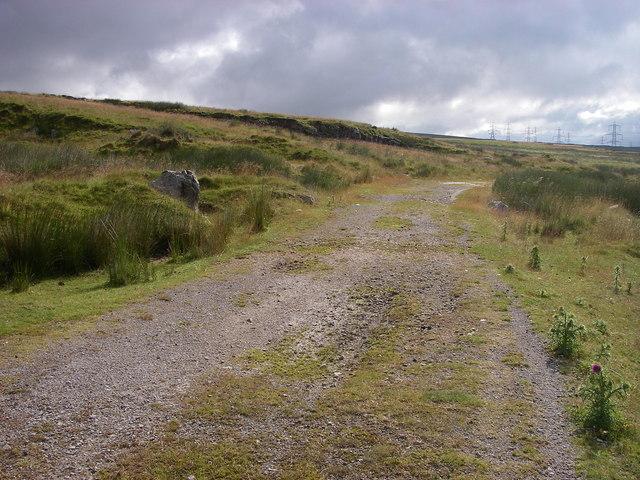 Disused quarry track