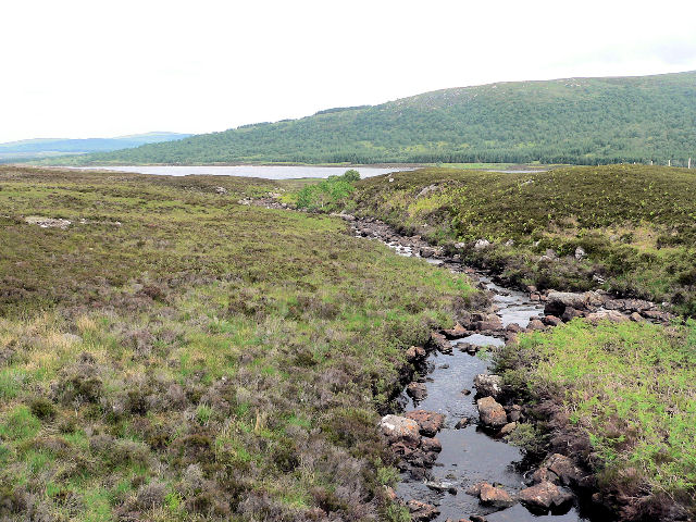 Burn running into Loch Naver