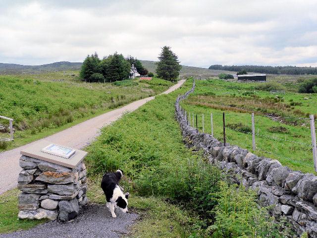 Where the Strathnaver walking trail crosses the road