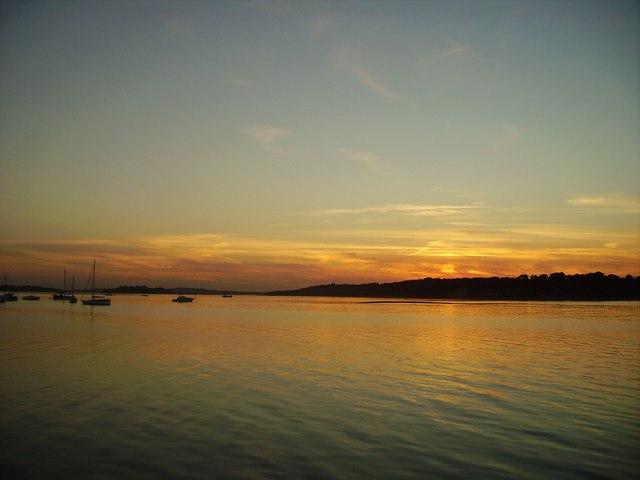 Sunset over Brownsea Island.