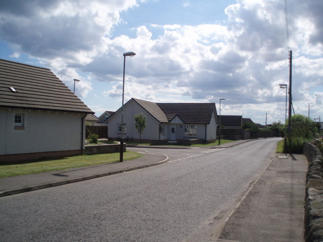 New housing on the outskirts of Carnoustie