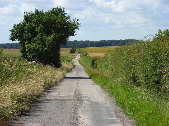 Farm road on Boreland Hill