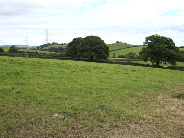 Countryside east of Kellinch