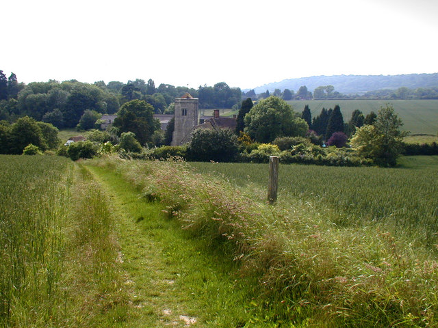 Footpath to Trottiscliffe church