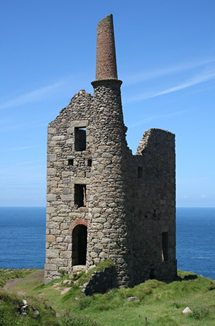 The Cargodna pumping engine house at Wheal Owles.