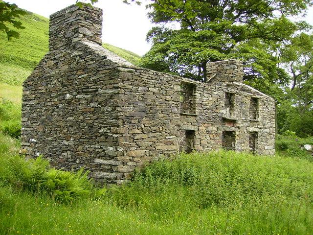 Renovated ruin of farmhouse in Glendhoo