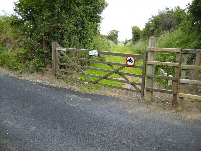 Former level crossing on the Peel - Ramsey railway line