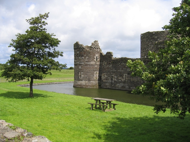 North West Corner of Beaumaris Castle