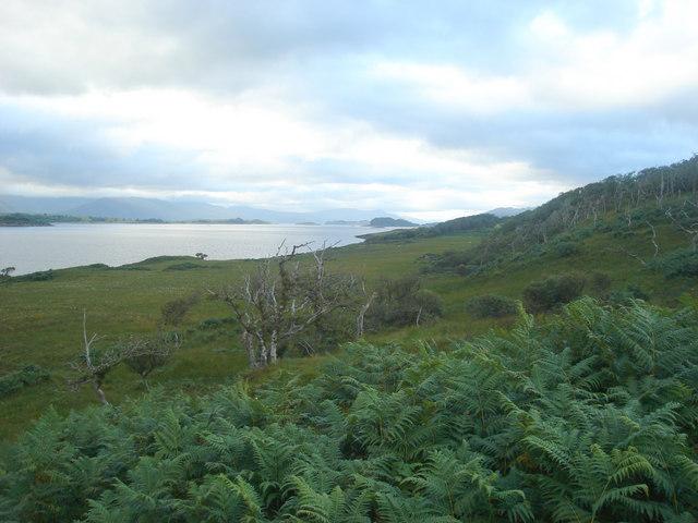 The view north from near Rubha nam Blar Boidheach