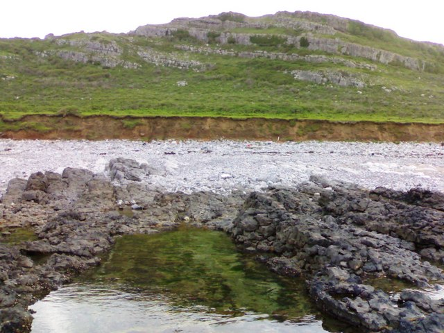 Limestone cliffs from the foreshore