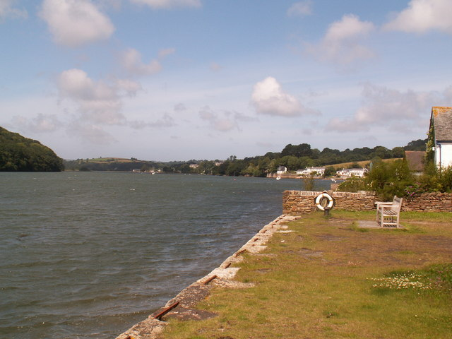 Restronguet Creek at high tide, from Point Quay