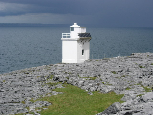 Black Head Lighthouse and Galway Bay