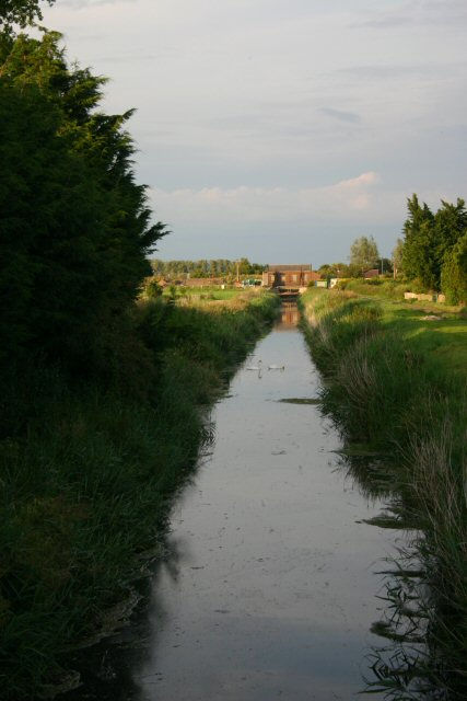 Drainage ditch and pumping station