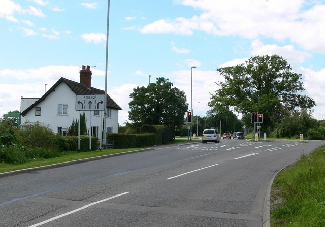 The B582 Desford Road