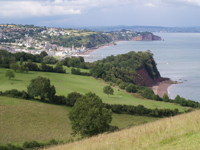 Shaldon Ness and Teignmouth from the coast path