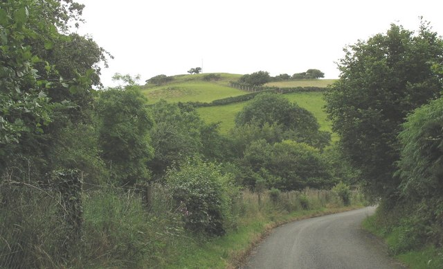 View towards Capel-y-graig hill across the Adda Valley