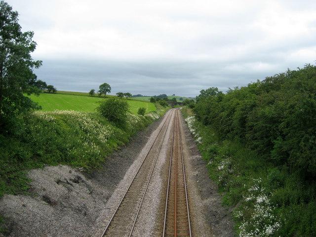 West from Moorber Lane Railway Bridge