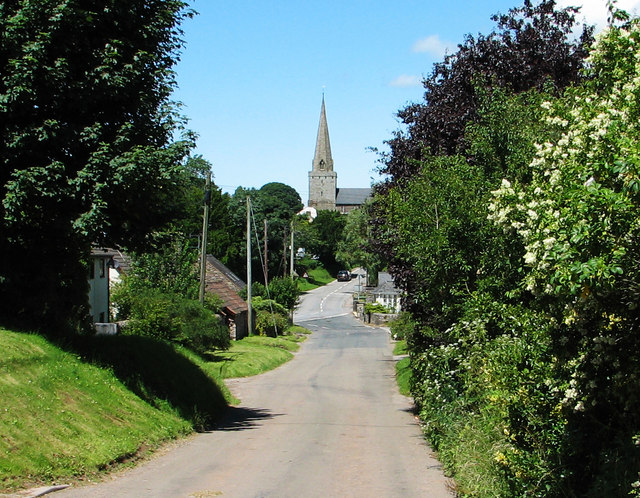 Trellech St Nicholas church from the Catbrook road