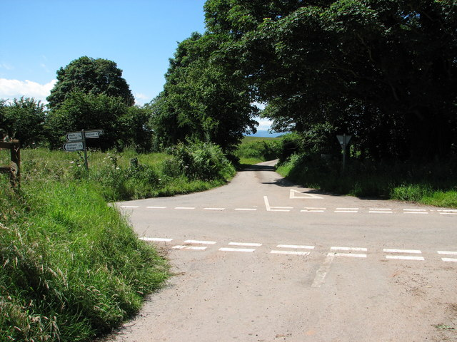 Road junction at Trellech Cross