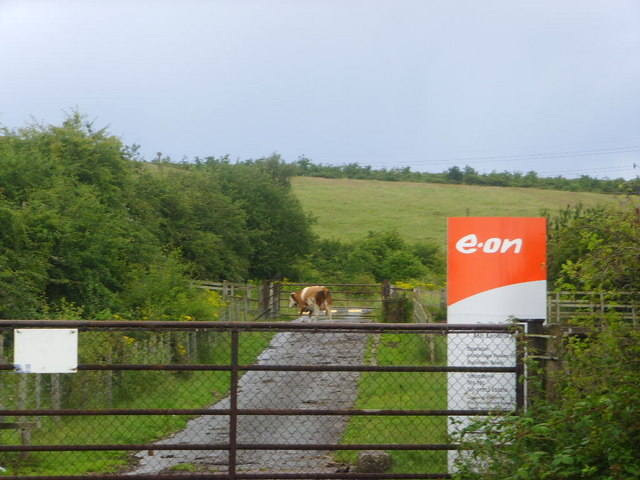 One of the entrances to Ash Landfill Site, Buildwas