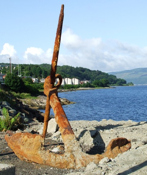 Rusty old anchor