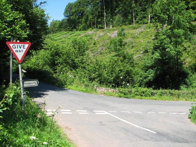Road junction at Tintern Cross
