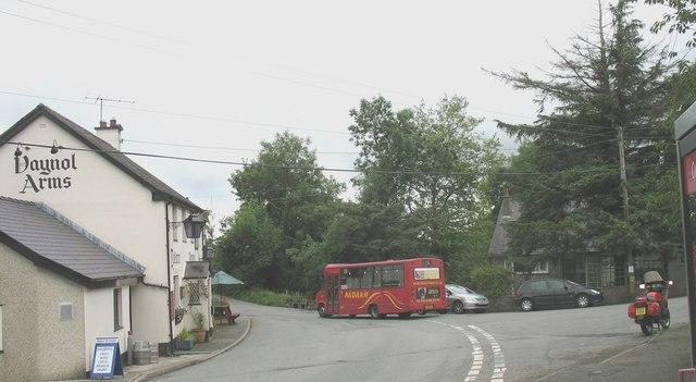 The 1343 No 72 Padarn Bus from Pentir Vaynol Arms to Bangor