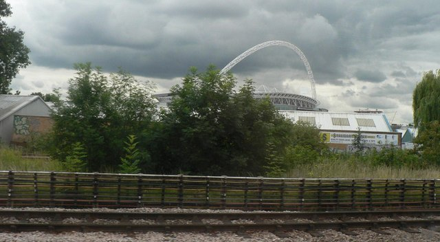 Wembley: contrasting colours from the train