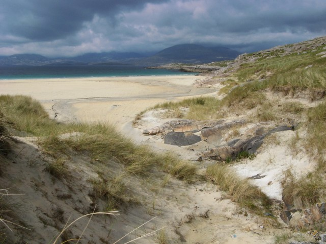 Dunes behind Tràigh Rosamol