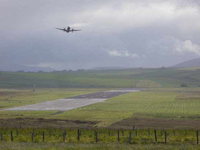 Take-off at Kirkwall Airport