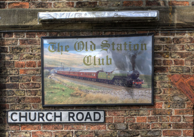 The Old Station Club Sign