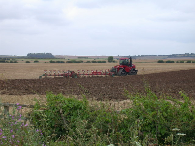 Ploughing at North Hall Farm