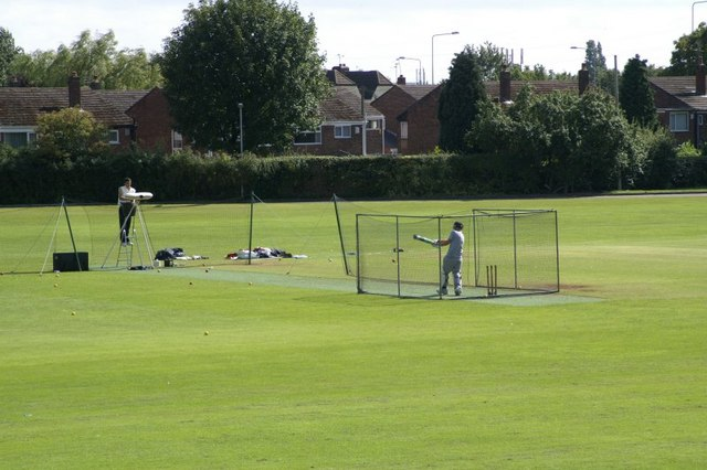 Batting practice at Maghull Cricket Club