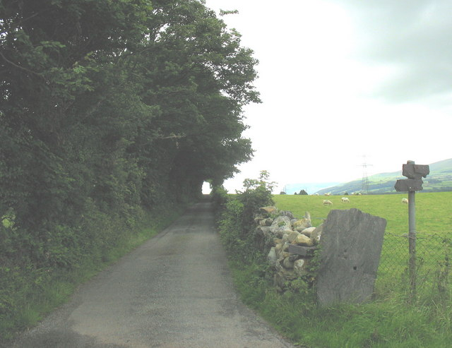 The road to the hamlet of Glasinfryn