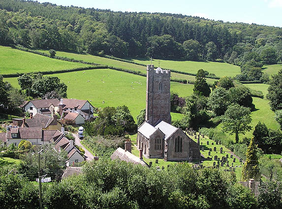 Luccombe church from Knowle Top
