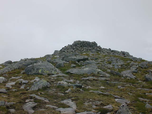 The cairn on Sgurr na Lapaich