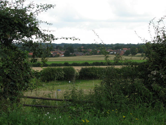 View to Strumpshaw from Wood Lane