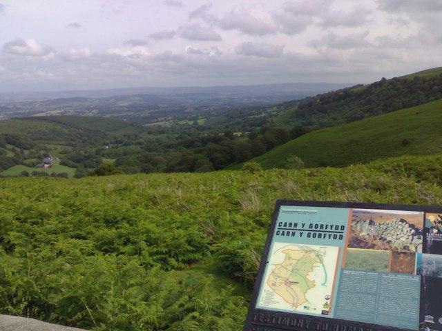 View from Carn-y-gorfydd car park