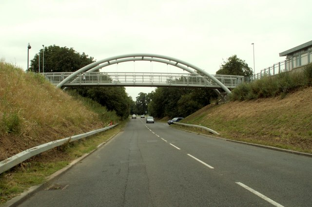 Footbridge over Coneygear Road