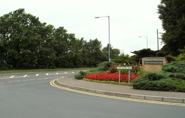 Road junction by Ermine Business Park