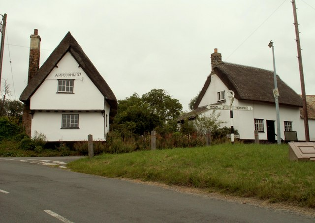 Thatched cottages at Thriplow