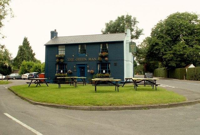 'The Green Man' inn at Thriplow
