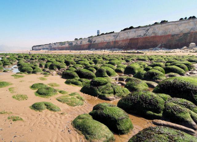 Hunstanton layered cliffs.
