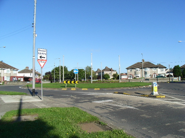 Roundabout on Glasnevin Avenue