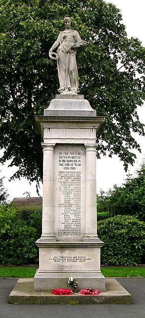 Hunsworth War Memorial - South View Road