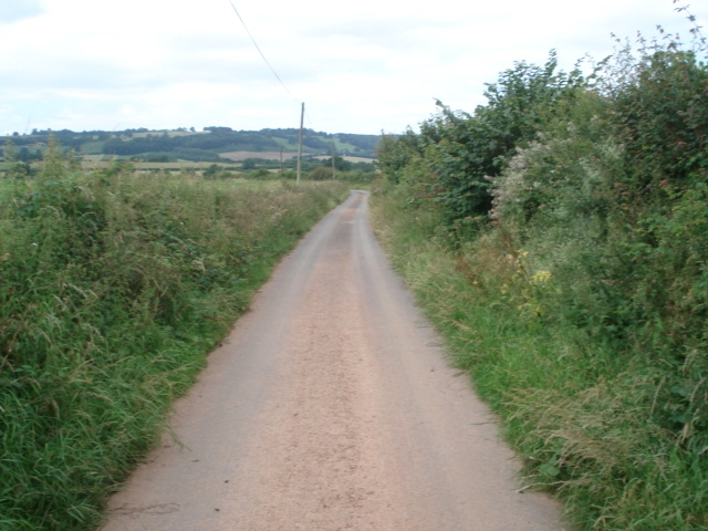 Entrance road to Underley Farm