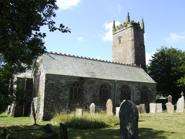 St Pinnock church from the north